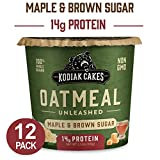 Kodiak Cakes Instant Protein Maple & Brown Sugar Oatmeal in A Cup, 2.12 Oz (Pack Of 12)