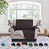 oversized sectional sofas RHF Reversible Chair and a Half Cover&Chair and a Half Covers,Slipcovers for Chair and a Half, Chair and a Half Covers,Pet Cover for Chair and a Half,Machine Washable(Chair and a half: Choco/Beige)