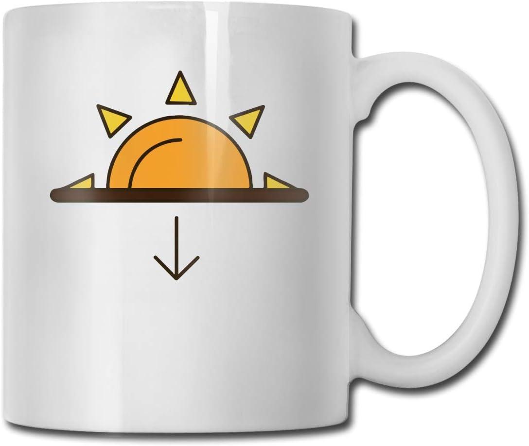 Tazas de té, taza de té puesta de sol grande Bonita taza de té de cerámica segura para regalo de cumpleaños Tercera edad Regalo del día del padre 11 Ounces