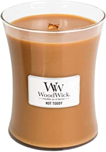 WoodWick Hot Toddy Pluswick Medium Hourglass Candle, 10 oz.