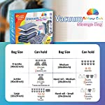Rainbow Craft 24-PACK Vacuum Storage Bags for Clothes Vacuum Storage Bags for Comforters and Blankets – Space Saver Bags…