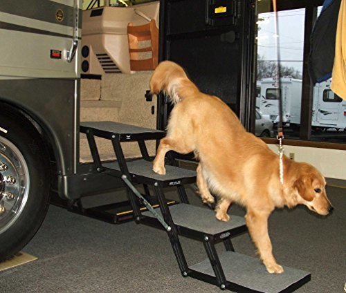 """Pet Loader Dog Stairs - Ultra Light 14.5"""" 4 Step - for Cars,"""