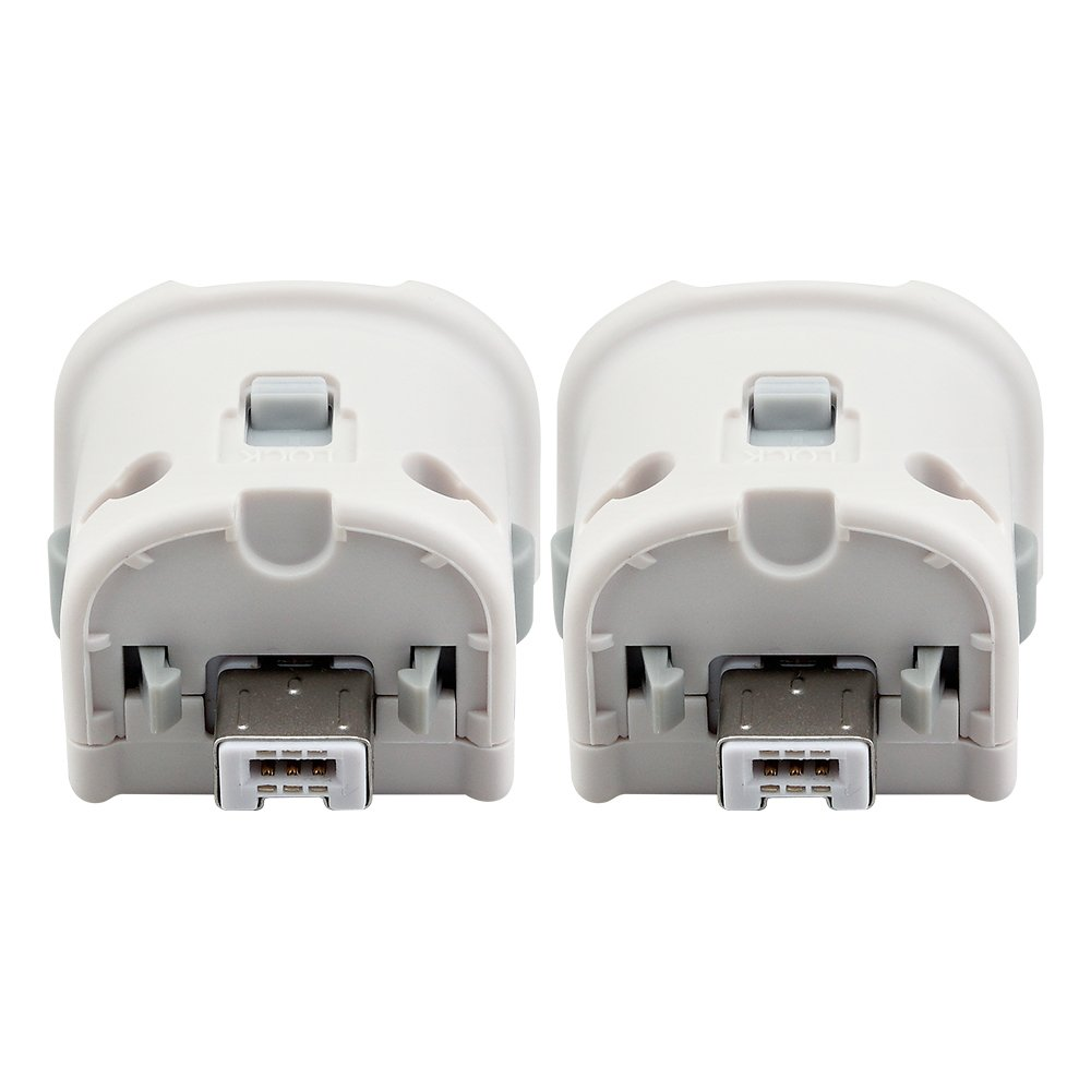2 in 1 Wii Motion Plus Adapter, Cosaux FM03 Wii Remote Plus Sensor Accelerator For Nintend Wii Remote - White (Third-Party Product)