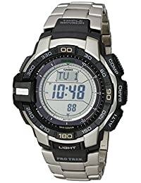 "Casio Men's PRG270D-7CR ""Pro Trek"" Stainless Steel Solar Watch"