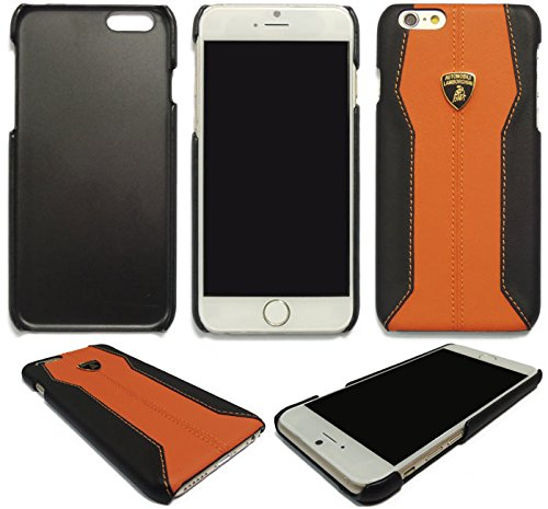 Automobili Lamborghini Huracan D1 Genuine Leather Back Case for iPhone 6 Plus/ 6S Plus (Orange)