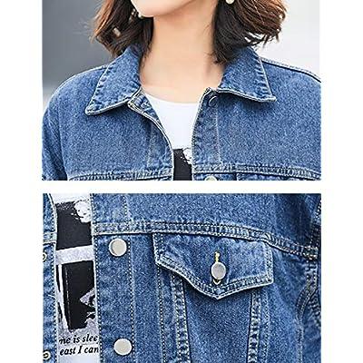 Omoone Women's Oversized Mid Long Denim Jacket Jean Biker Coat at Women's Coats Shop