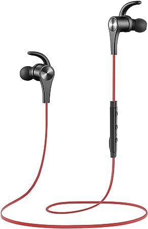 Spielzeit eingebautem Mikrofon Preis Leistungs King SoundPEATS Bluetooth Kopfh/örer in Ear Sport Kopfh/örer V5.0 Magnetische Headset Stereo AptX Wireless Ohrh/örer IPX6 Wasserschutzklasse mit 8 Std