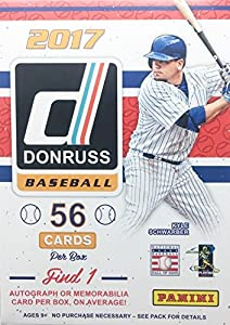 2017 Panini MLB Donruss Baseball EXCLUSIVE Factory Sealed Retail Box with AUTOGRAPH or MEMORABILIA Card