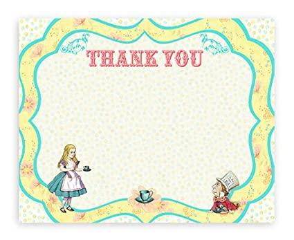 Pop Parties Alice In Wonderland 10 Thank You Note Cards 10 Envelopes
