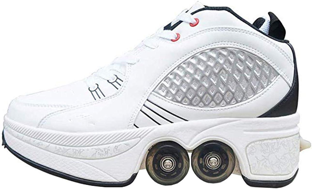 Dbtxwd Zapatillas de Ruedas Unisex Zapatillas de Ruedas Zapatillas de Skate Zapatillas con Ruedas para niñas Niños Principiantes,40: Amazon.es: Zapatos y complementos