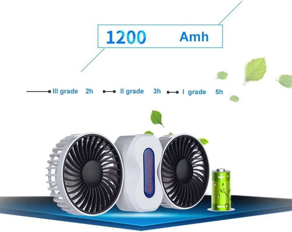 Shengjuanfeng USB Fans Portable Fan Rechargeable Battery 2 Motors Fans Mini USB Desk Fan Electric Fan with 5 Blades for Home Office Color : Purple Outdoor Travel
