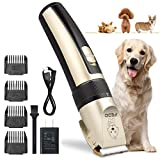 TZCER Professional Dog Grooming Kit Rechargeable Cordless Pet Grooming Clippers Low Noise Dog Clippers Suitable for Dogs,Cats,House Animals,Pets Grooming Scissors
