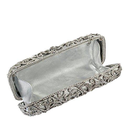 Sac à Soirée Sac D'embrayage De Cosmétiques Femmes White à Main Diamants Sac AdTxHwq