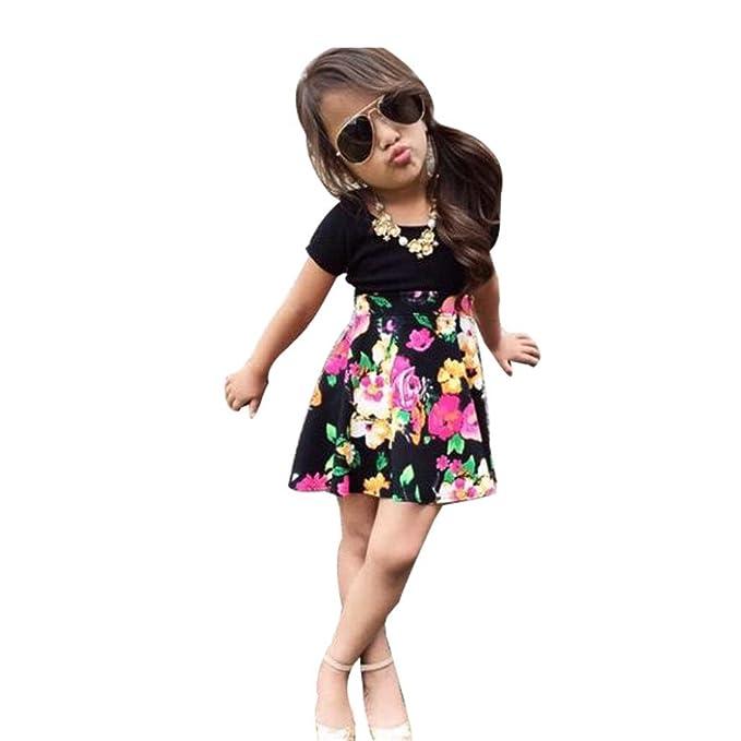 ❥Elecenty Kinder Mädche Prinzessin Kleid,Kurzarm T shirt Tops ...