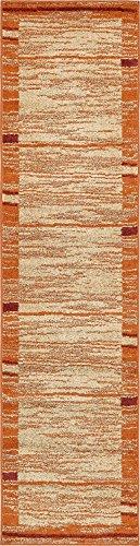 Modern Area Rug (Terracotta - 2' 6'' x 10'-Feet Runner) Giza Collection Home Floor Décor Rugs - Living, Dinning, Office, Rooms & Bedrrom, Hallway Carpet ()