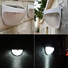 Happy Hours - Outdoor Garden Landscaping Sun Solar Powered Automatic Sensor Light House Garage Fence Yard LED Lamp Wall Roof Shed Pathway Walkways Stairs Lamp Lighting (No Battery Included)