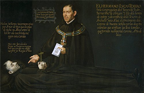 Oil Painting 'Anonymous El Hermano Lucas Texero Ante El Cadaver Del Venerable Bernardino De Obregon Ca. 1627' 24 x 37 inch / 61 x 93 cm , on High Definition HD canvas prints, Kitchen, Laundry decor