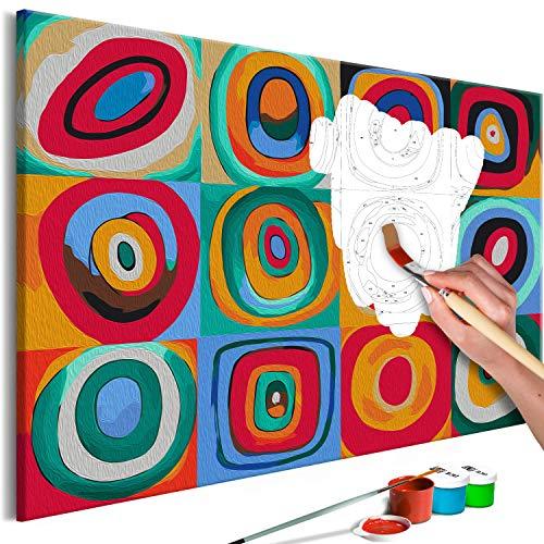 murando Pintura por Numeros Abstracto Colorido 60x40 cm Cuadros de Colorear por Numeros Kit para Pintar en Lienzo con Marco DIY Bricolaje Adultos Ninos Decoracion de Pared Regalos n-A-1041-d-a