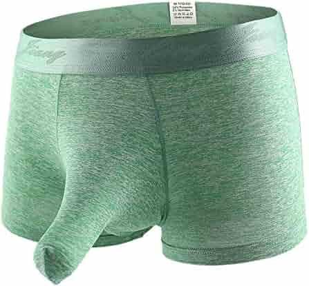 6b328a7af19b Men's Sexy Boxer Briefs Bikini Elephant Trunk Underwear Ice Silk Comfort  Triangle Underpants Shorts