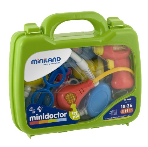 Miniland - Minidoctor, maletín con 8 accesorios (97255): Amazon.es: Electrónica