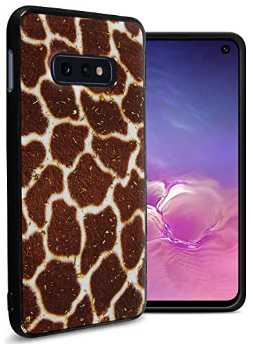 (CoverON Galaxy S10E Case for Women & Girls, Safari Skin Series Slim Fit TPU Rubber Phone Case with Animal Print Designs and Glitter Bling for Samsung Galaxy S10E (Giraffe Skin))