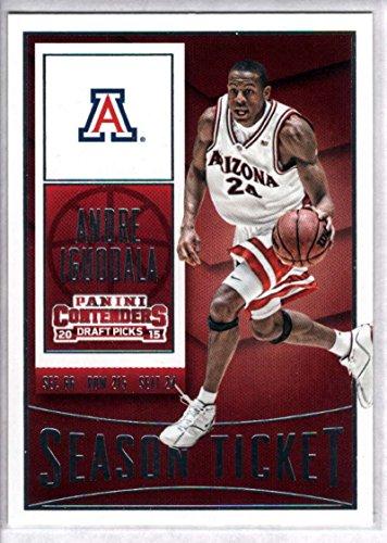 (2015-16 Contenders Draft Picks Season Ticket Basketball #6 Andre Iguodala Arizona Wildcats Official NCAA Trading Card made by Panini)