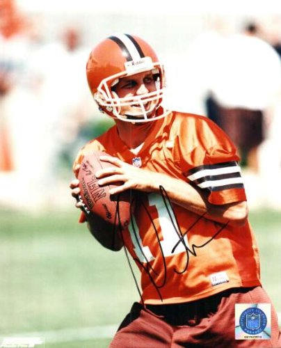 Autographed Ty Detmer 8x10 Photo Cleveland Browns by Main Line Autographs
