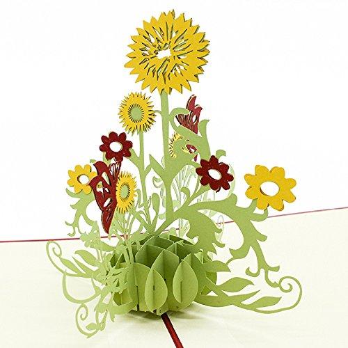 - Nosto Creative Sunflower 3D Pop Up Birthday Card, Greeting Card, Grab Anyone's Heart
