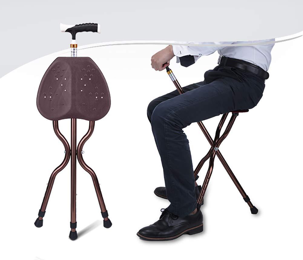 Professional Healcare Faltbar Gehstock Mit Integriertem Sitz Höhenverstellbar für für für Menschen mit Eingeschränkter Mobilität und ältere Menschen B07KZV39CM Wanderstcke Heißer Verkauf 811038