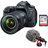 Canon EOS 6D Mark II DSLR Camera with EF 24-105mm f/4L IS II plus Boya BY-MM1 Shotgun Video Microphone and 64GB SDHC Memory Card