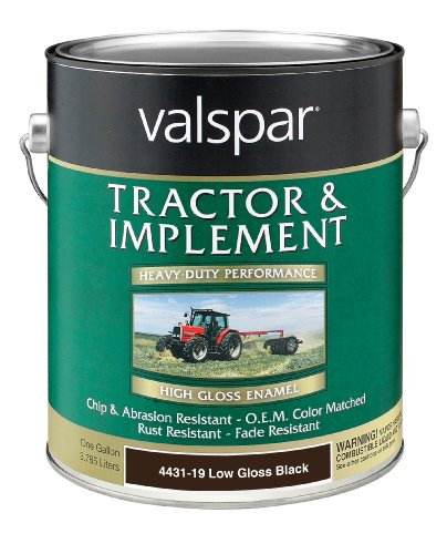 Valspar 4431-19 Low Gloss Black Tractor and Implement Paint - 1 Gallon