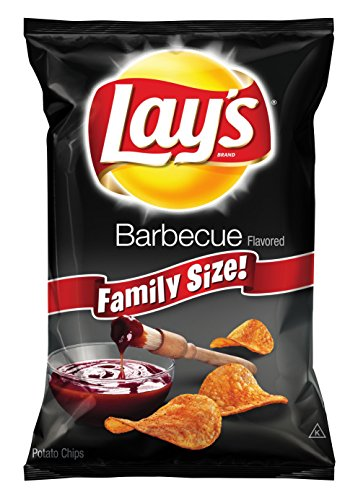 Lay's Potato Chips, BBQ, 40 Ounce (Pack of 4) -