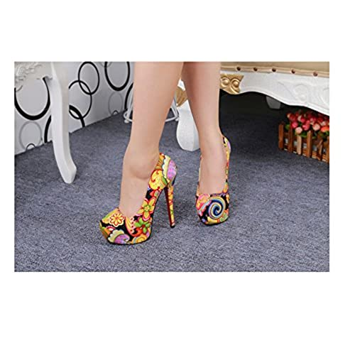 09bee0cae15 new Jiame Women's Extreme High Fashion Pointed Toe Hidden Platform ...