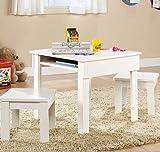 Sauder Beginnings Kids Table and Stool Set, White