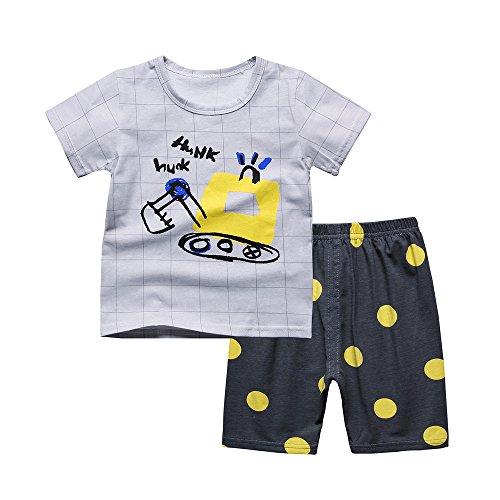 Anbaby Boys Pajamas Set Children Cotton Short Pajamas Kids Clothes Sleepwear 12Months-9Year