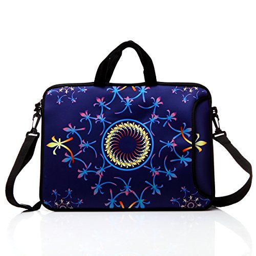12.5-Inch Laptop Shoulder Bag Sleeve Case With Handle For 11.6 12 12.2 12.5 Netbook/Macbook Air Pro (Classic Blue)