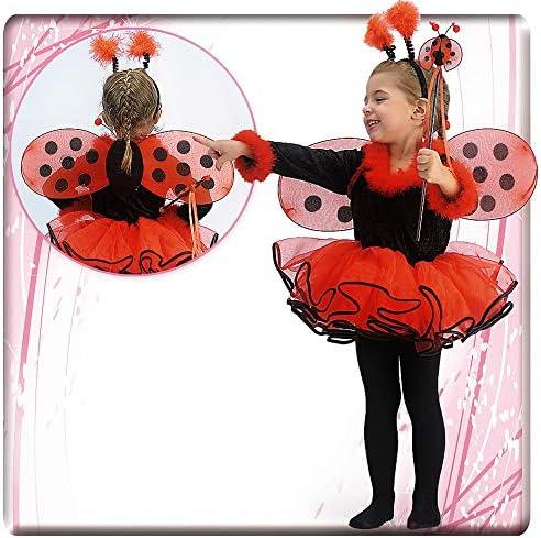 Disfraz para niña de Mariquita, Bailarina 6-7 años: Carnival T ...