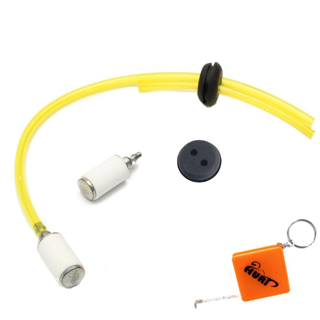 Huri 2 fori Filtro carburante linea tubo & Anello e due tubo gas serbatoio carburante filtro Kit di Sfiato