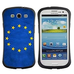 Shell-Star ( National Flag Series-European Union ) Hybrid Heavy Duty Shockproof iFace Fundas Cover Cubre Case para Samsung Galaxy S3 III / i9300 / i717
