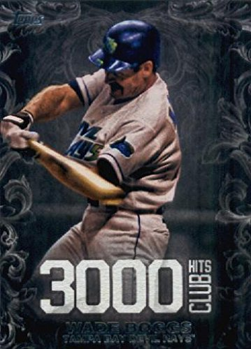 00 Hit Club #3000H-18 Wade Boggs Tampa Bay Devil Rays Baseball Card (Wade Boggs 3000 Hit Club)