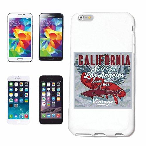 caja del teléfono iPhone 6S CALIFORNIA SURF DE VIDA DE LOS ANGELES playa de surf TABLAS DE SURF LAS ONDAS DE LONGBOARD Beginner Shop Caso duro de la cubierta Teléfono Cubiertas cubierta para el Appl