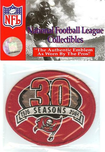 2005 Tampa Bay Buccaneers 30th Anniversary Red Patch - Official NFL - Anniversary Patch 30th Logo