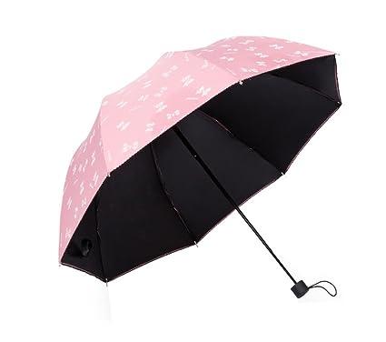 Paraguas de Viaje Plegable Ligero y Sencillo Paraguas a Prueba de Viento Anti-UV Paraguas