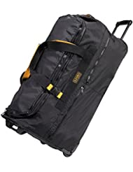A. Saks 31 Expandable Rolling Trolley Duffel