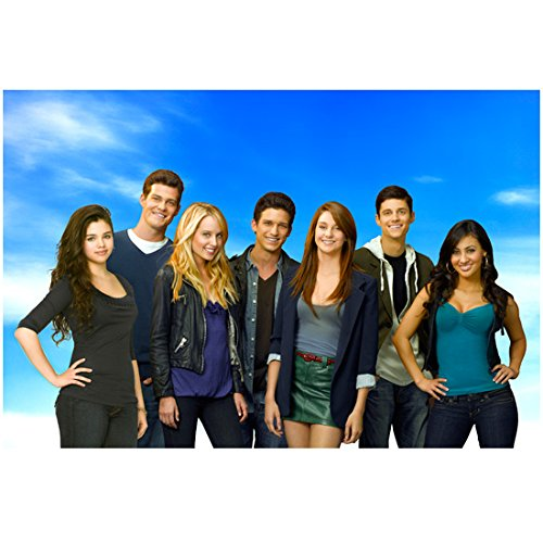 The Secret Life of the American Teenager (TV Series 2008 - 2013) 8 inch by 10 inch PHOTOGRAPH Cast from Thighs Up Standing kn (Cast From Secret Life Of The American Teenager)