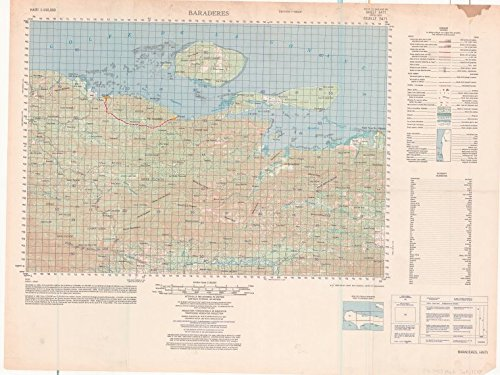 Historic 1961- Map   Baraderes   MapsAntique Vintage Map Reproduction