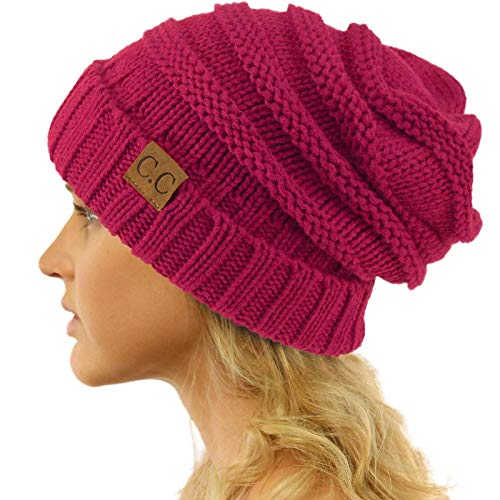 Replacement for CC Winter Trendy Warm Oversized Chunky Baggy Stretchy Slouchy Skully Beanie Hat ()