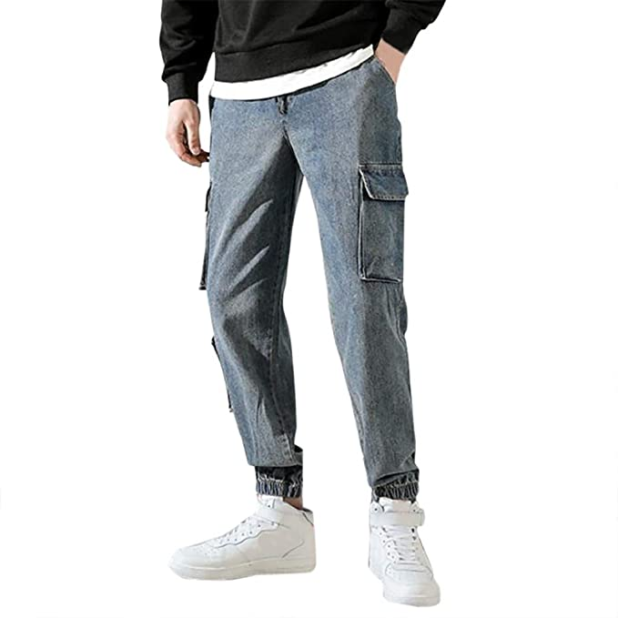 Geilisungren Pantalones de Hombre Casuales Chino Deporte ...