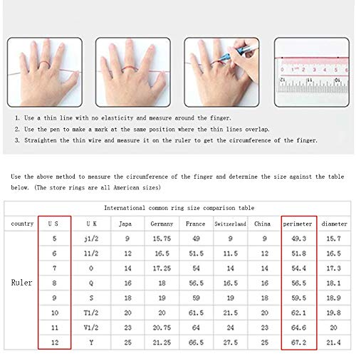 Ring Geometric Line Design Full Diamond Zircon Ring Cocktail Party Accessories (Size : 9) by Unknown (Image #6)