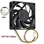 GOVOW-Tech 7cm/70mm/70x70x15mm 12V Computer/PC/CPU Silent Cooling Case Fan Standard Low Noise Case Fan - Oil Bearing - Innovative Design